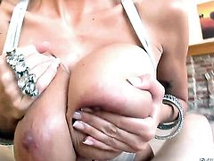 Playful kitty Alia Janine cant resist Jonni Darkkos sturdy fuck stick and takes it in her mouth