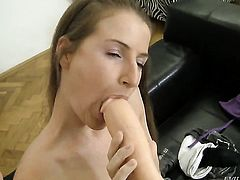 Lepidoptera gets her twat poked with zero mercy by Rocco Siffredi