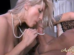 Ashley Fires rides the experience dick of The Original Tommy Gunn in a hot and wild pussy fucking hardcore scene.