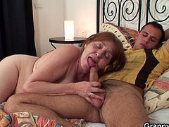 Granny enjoys super young cock. She is old and definitely out of control to satisfy all her dirty cravings. He heals granny with the power of his cock and there is no way they are not enjoying.