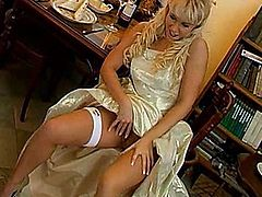 Watch a young cindy dollar masturbating and playing with a dildo in a yellow dress and high heels in a clubseventeen vid