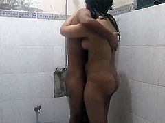 Nasty Indian couple Sonia and Sunny fuck in shower. They will stop from giving us their dirty show all the way. They are ready to amaze us with their oriental and very horny moves today.