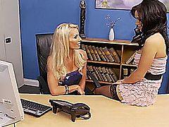 Gemma Massey and Sammy Jayne in Gemma Massey's Checkout (Scene 4).