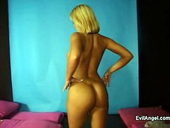 Amazing solo model with natural tits in colorful attires striptease seductively displaying their hot ass in an amazing reality compilations