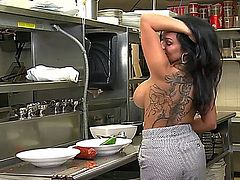 Busty Kitchen Doll