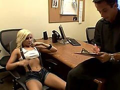 blonde madison fucks her boss