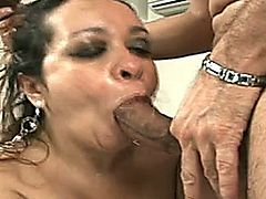 A nice sloppy Spanish mature takes a nice ass fucking
