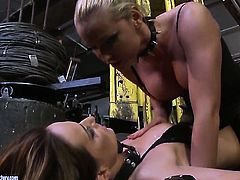 Blonde Andy Brown having unforgettable lesbian sex with Kathia Nobili