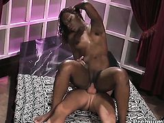 Miss Psexy gives unthinkable sexual pleasure to horny guy in interracial action