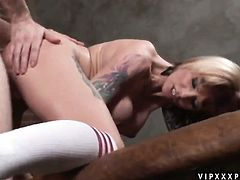 Brunette Monroe Valentino is ready to suck guys erect pole day and night