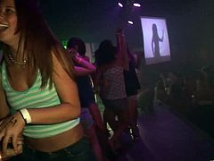 Appealing Cowgirl In Miniskirt Getting Wield At The Party