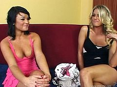These sexy lesbians love to play with their shaved pussies in hardcore masturbation. They get to lick and finger each other's pussy hardcore.