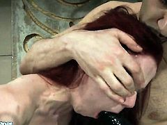 Redhead Niki Fox asks her man to drill her sweet mouth