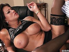 Teri Weigel with massive knockers and horny dude Keiran Lee having vigorous sex