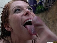 This is a hot fuck and blowjob scene outdoor with a huge cock and a hot pussy getting fucked hardcore doggystyle in hot orgasm.