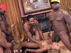 ebony melrose foxxx gangbang and swallow cum