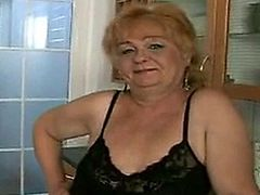 Chubby granny Eva sucks and fucks like a pro