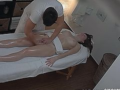 Shocking revelation! 3 spy cameras in a massage salon. We spy on Czech girls during a massage. They have no idea they are being watched. You will be shocked when you see what�s going on inside!