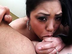 Kaiya Lynn loses control after Jonni Darkko inserts his rock hard sausage in her mouth