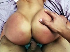 Visit official Shes New's HomepageCurvy Teanna Trump moans like a true whore with a huge dick cracking her tight pussy in serious porn moment