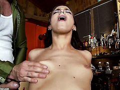 Brunette Lyen Parker spends her sexual energy with sturdy schlong in her mouth