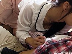 japanese cowgirl gets drilled in clothed sex hardcore