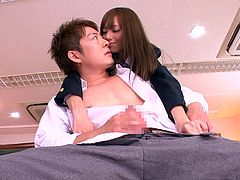Have you ever got fantasies with naughty babes dressed up in school uniforms? This Japanese babe gets horny in the classroom and exposes her hairy horny pussy and lovely tits to the camera. Click to see her getting really playful in the presence of a guy totally mesmerized by her charms.