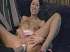 Hot amateur slut takes a huge fisting penetration till she orgasms and her twats a gaping wreck