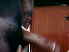 AndreaSex Sucking Big black Cock while film cuckold