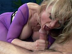 Nina Hartley treats a hot stud with a naughty fuck massage