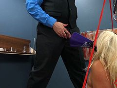 Layla Price is a cheerful girl. So Dr. Mercies made her cheer him on as he fucked her ass, fed her his ass and piss, and gave her lots of ATM. Then he shot his cum into her cheerleader horn and leaves her alone with her humiliation.