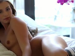 This solo model plays with her sexy body in a hot and wild erotic scene. She displays her juicy tits and hot ass in a nasty seduction.