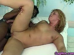 Fuck Fatties brings you a hell of a free porn video where you can see how this blonde Latina gets banged hard by a black stud into a massively intense interracial orgasm.
