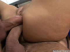 Lioness takes some nasty double penetrations, including double oral and double anal, then end it with loads of cum flooding her asshole. No more lube needed!