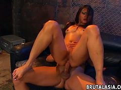Nyomi Zen is your stunning asian chick who loves rough sex, she also likes it taking huge dick into her tight ass hole drilling it open wide like a gaping hole.