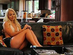 Lotus Lain knows Aaliyah Love isn't having a sex life unless her pussy's getting stretched good and hard. So when the MILF decides she's cool with taking the 18 to 21 year old blonde up on her sexual advances, she knows the usual toys are barely going to be good for warm up ... the hot little blonde tramp won't be happy with anything less than a strap on, in this 30 minute scene from High Contrast!