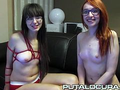 These two hot lesbian teens rub and eat each other´s pussy till they cum. Torbe finishes them off with a nice facial for the both.
