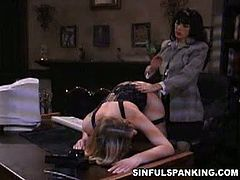 Sinful Spanking brings you a hell of a free porn video where you can see how the sexy brunette Natasha Sweet spanks her sexy blonde slave Felix Vicious into a huge orgasm.