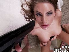 Rich playboy got captured by her ex-girlfriends Kendall Karson, Juelz Ventura and Danica Dillonand all they want is not his money but his huge dick. They suck and fuck it hard and got facialed all over their gorgeous faces.