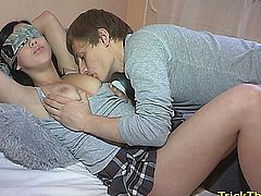 Russian cuckold action with a hot anal loving slut girlfriend getting assfucked
