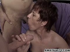 A naughty amateur brunette girlfriend enjoys different cocks at once and receives huge cum loads on her face ! Homemade hardcore action...