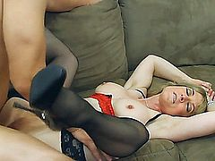 husband has a surprise for his horny wife, he invites a young guy.