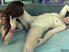 Salacious babes Lizzie Tucker and Nancy Vee mucn each other trimmed pussies