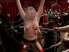 babes get tied up at a sex party