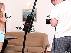 Silvia Saint gets naked to give a close-up view of her twat in solo scene