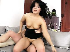 Brunette Bella Marchelli makes mans anal fantasies a reality