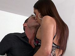 Samia Duarte blows and gets fucked doggystyle after taking a shower