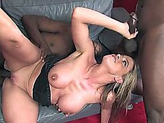 Kylie gets stuffed with large BBC's.