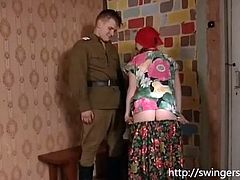 Soldier gym blonde pussy
