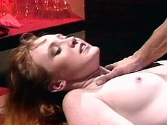 Black jack city 01-The horny brunette babe drilled by a big dick with black jack stockings in this tube.